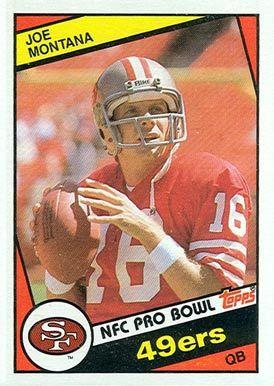 10 Qb Joe Montana 358 Hall Of Fame Footballl Dream