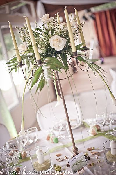 decoration table mariage chandelier