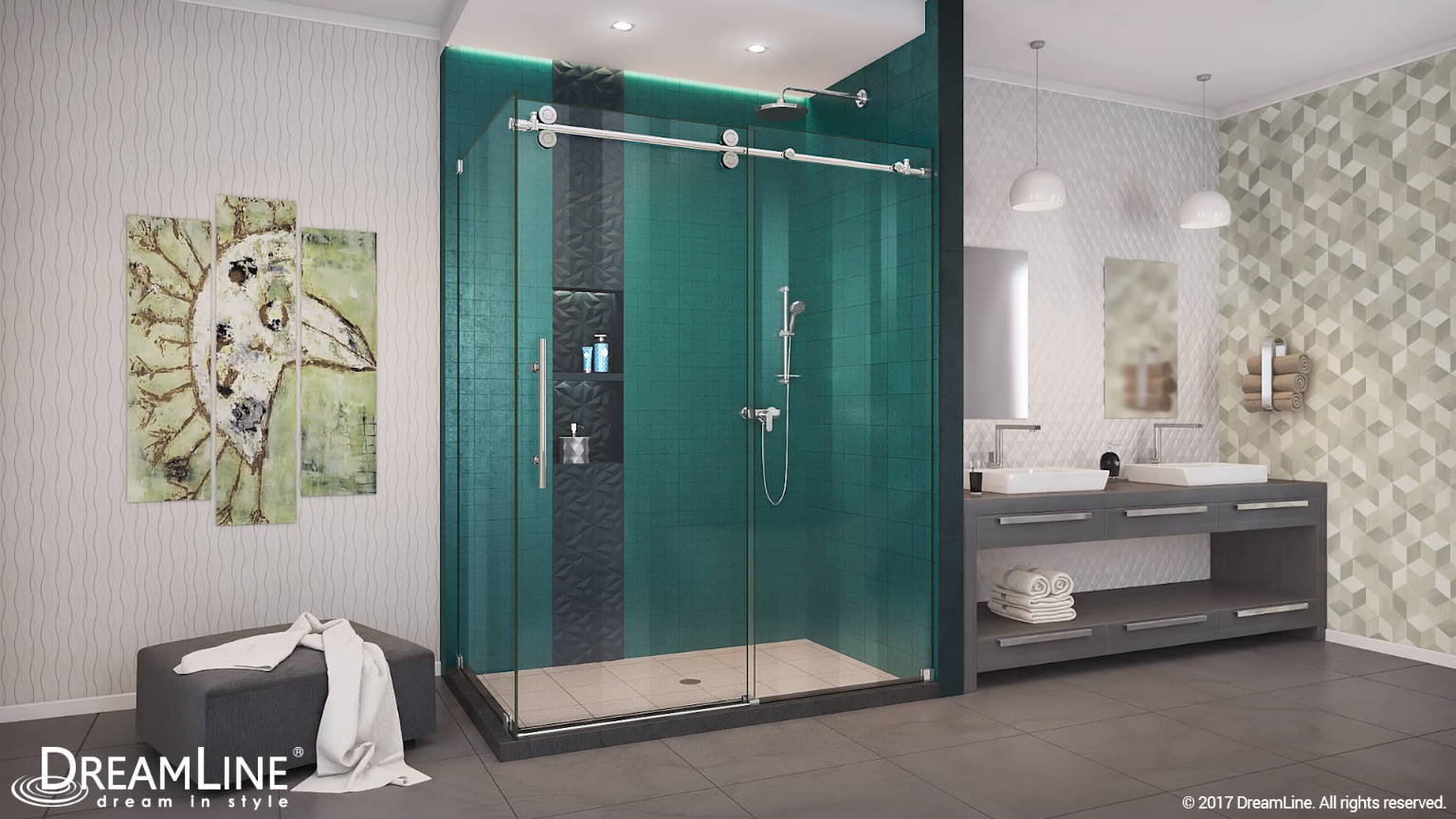 Choose barn-style shower doors for a clean, timeless option to ...