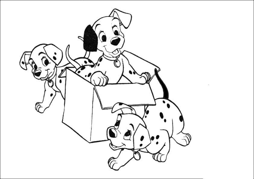101 Dalmatiner | Ausmalbilder Disney | собаки | Pinterest | Crochet