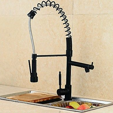 3-Loch-Armatur Einzigen Handgriff Zwei Löcher with Nickel poliert - armatur küche ausziehbar