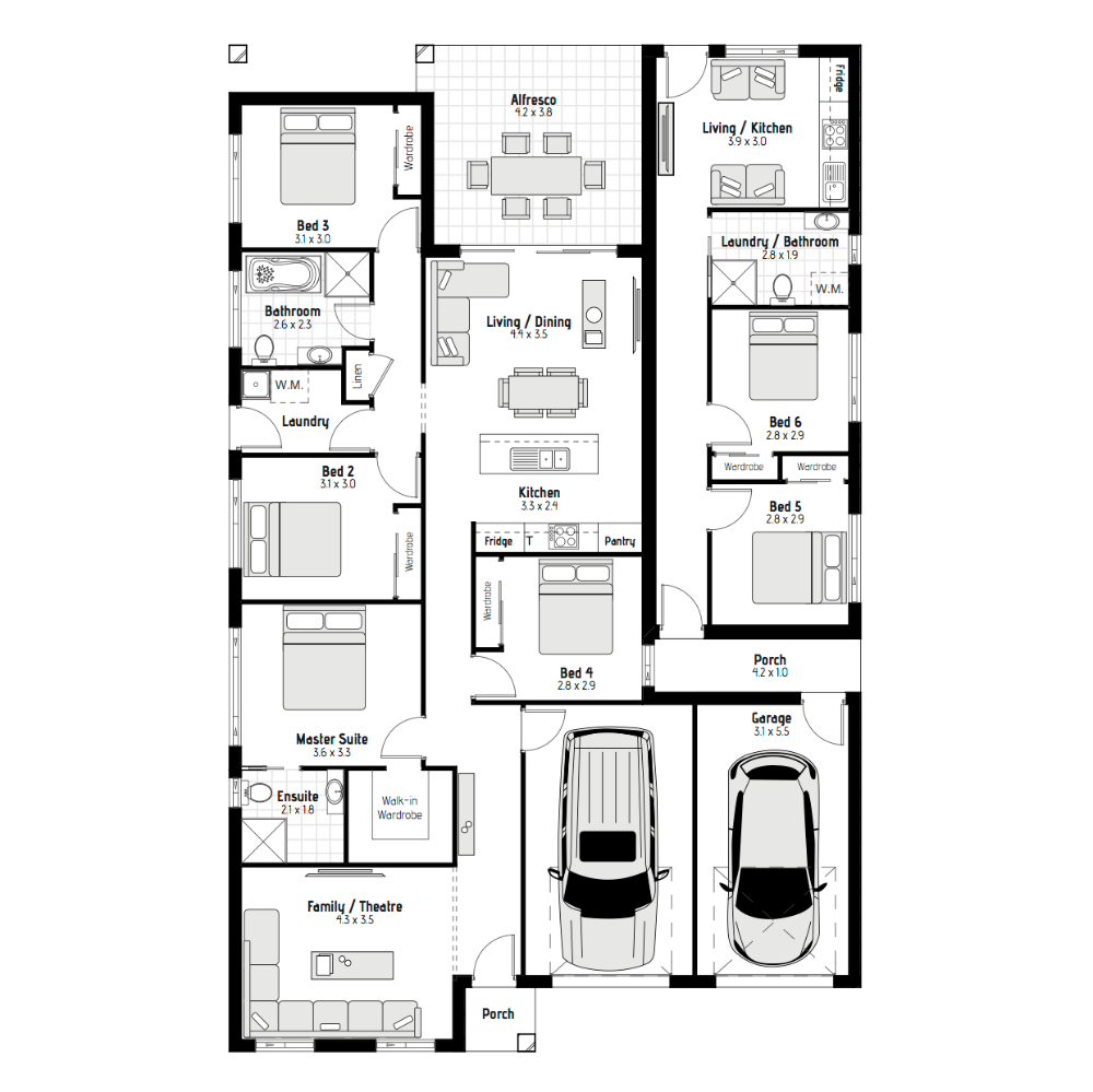 Tamarind Mki 15m Frontage Home Design Meridian Homes House With Granny Flat