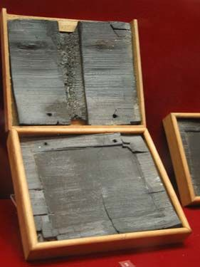 The Naples Museum:wax writing tablets.