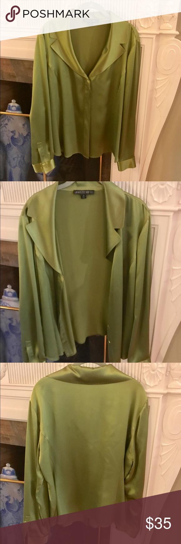 🆕 Lafayette 148 Silk Blouse Lafayette 148 blouse. 100% Silk. In perfect condition. Lafayette 148 New York Tops