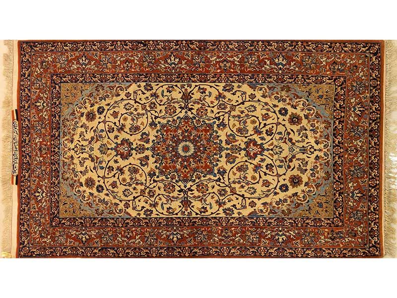 Persian Hand Knotted Isfahan Rug, 158 x 97