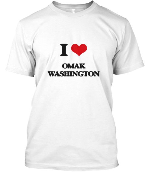 I Love Omak Washington White T-Shirt Front - This is the perfect gift for someone who loves Omak. Thank you for visiting my page (Related terms: I Love,I Love Omak Washington,I Love Omak Washington,Omak,Okanogan,Omak Travel,Washington,Omak Flag, ...)