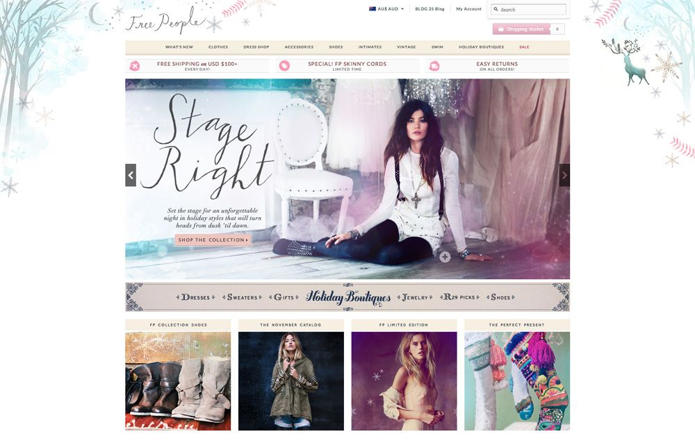 Free People website - love the soft, feminine design | ♥ Web ...