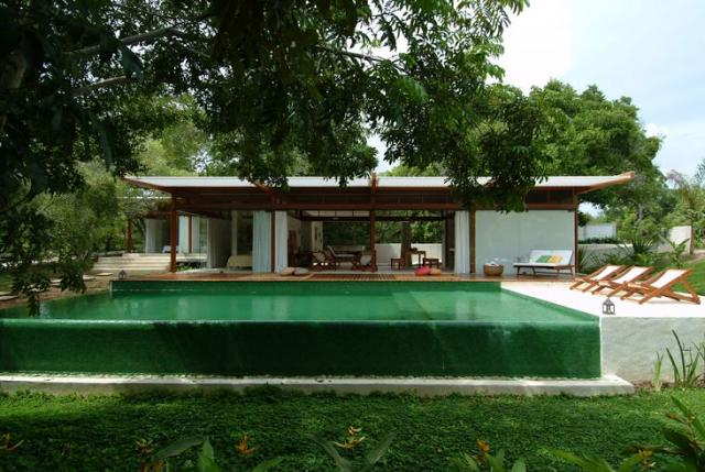 Casa de campo con piscina por andre luque en http for Casas de campo pequenas con alberca
