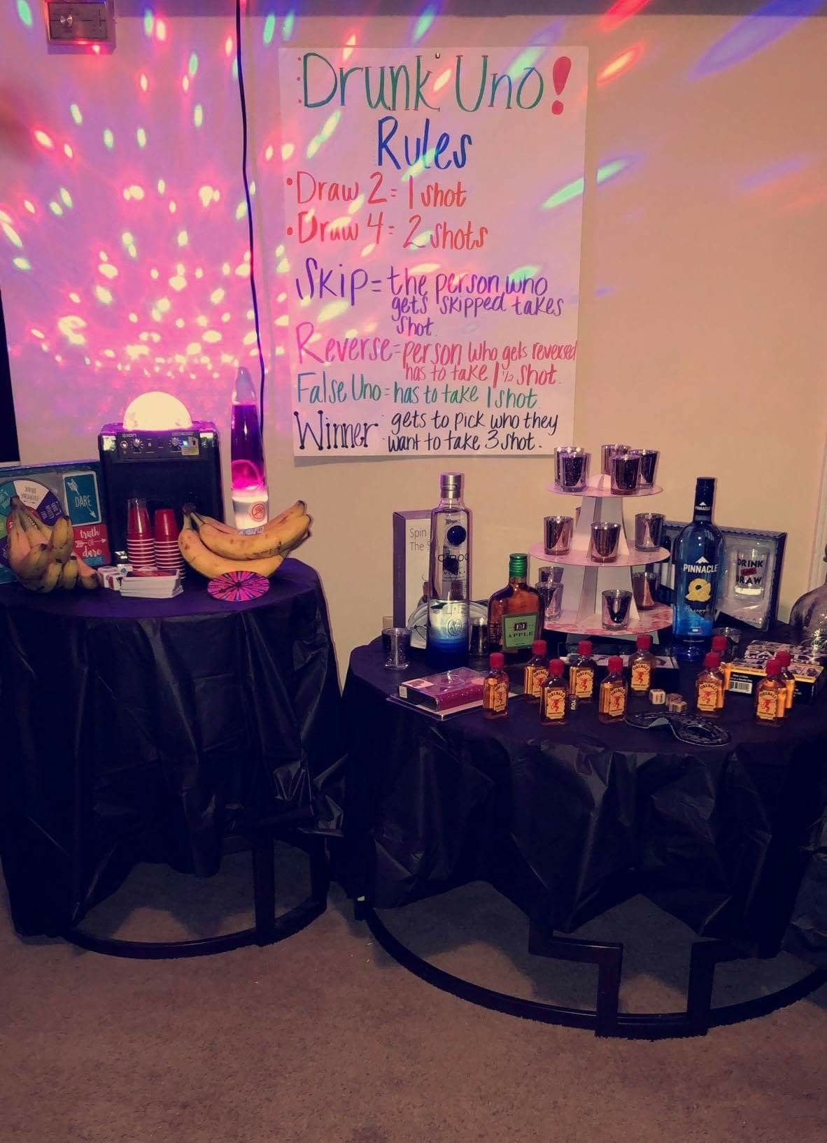 Uno And Shots Birthday Party Venues Birthday Party 21 Girls Night Party