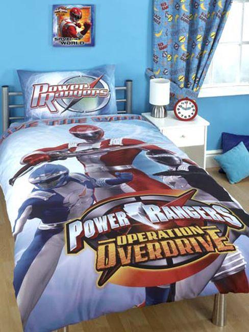 Power Rangers Duvet Cover And Pillowcase Operation Overdrive Design Bedding Brand New Release Duvet Size Kids Bedroom Decor Bedroom Decor Boys Bedroom Modern
