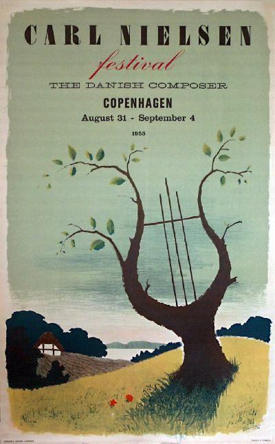 By Des Asmussen, 1953, Danish Composer Carl Nielsen Festival Copenhagen, Denmark.
