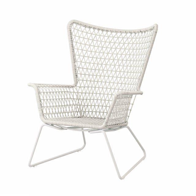 Outdoor Sessel aus Kunstrattan, Ikea Living, Weiß, Outdoor ...