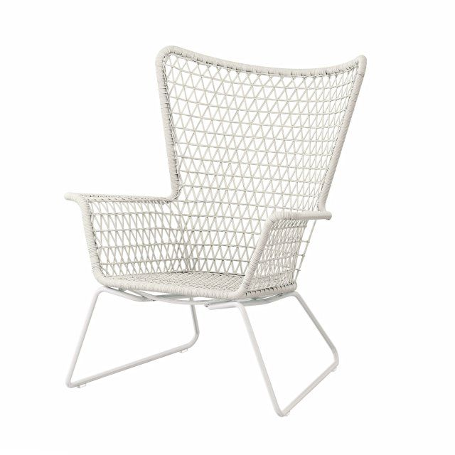 Sessel ikea weiß  Outdoor-Sessel aus Kunstrattan, Ikea Living, Weiß, Outdoor, Balkon ...