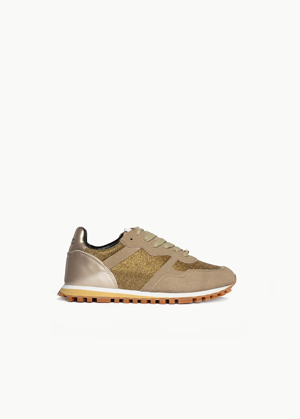 Zapatillas De Ante Y Lurex Shop Online Liu Jo Zapatos Mujer Zapato De Vestir Hombre Zapatos
