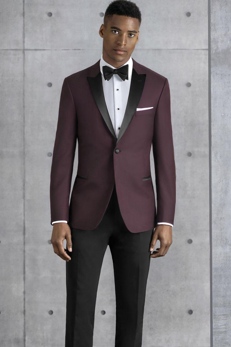 Ultra Slim Burgundy Empire 201 Slim fit pants, Bridal