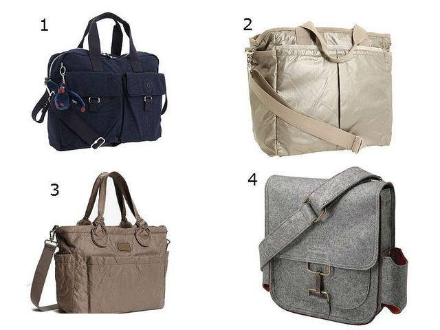 Non-floral, non-printed diaper bags - just my style