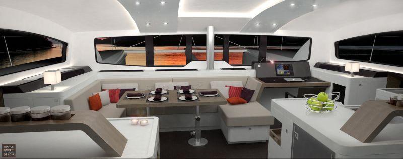 Aménagement interieur yacht agencement voilier franck darnet design architecte naval