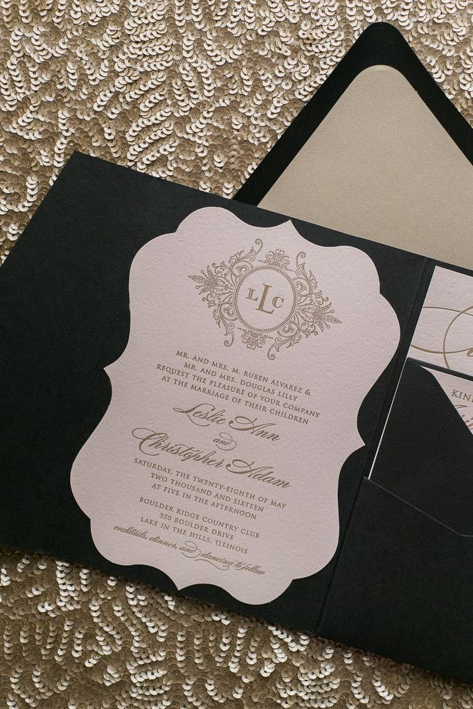 ABIGAIL Suite Ornate Lace Pocket Folder Package