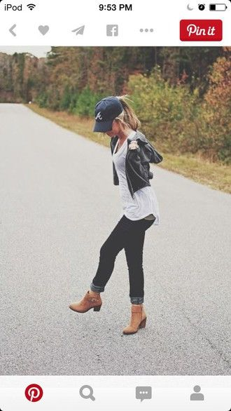 shoes brown heel ankle boots bootlets fall outfits spring