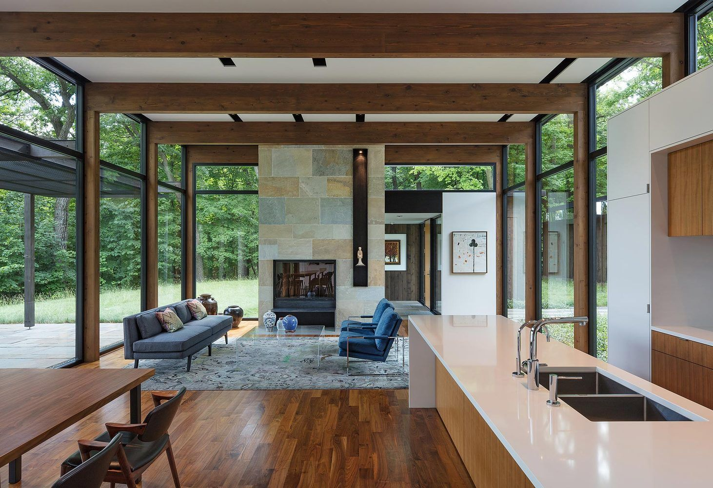 Gallery Of Woodland House Altus Architecture Design 21 Modern Glass House Woodland House Architecture Design
