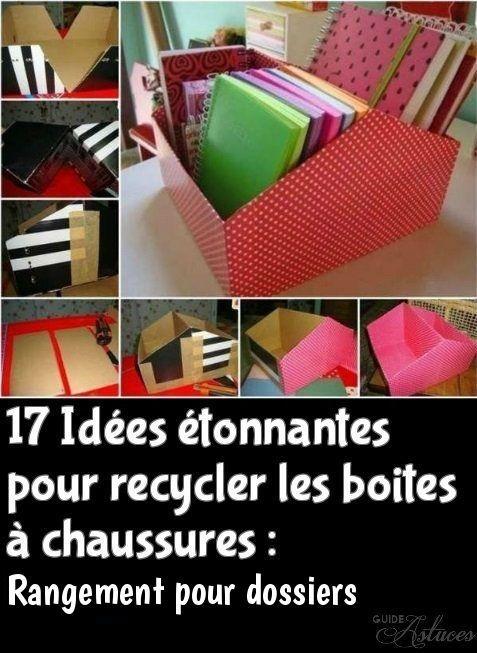 17 Idees Etonnantes Pour Recycler Les Boites A Chaussures Boite A Chaussure Rangement Recup Idee Rangement