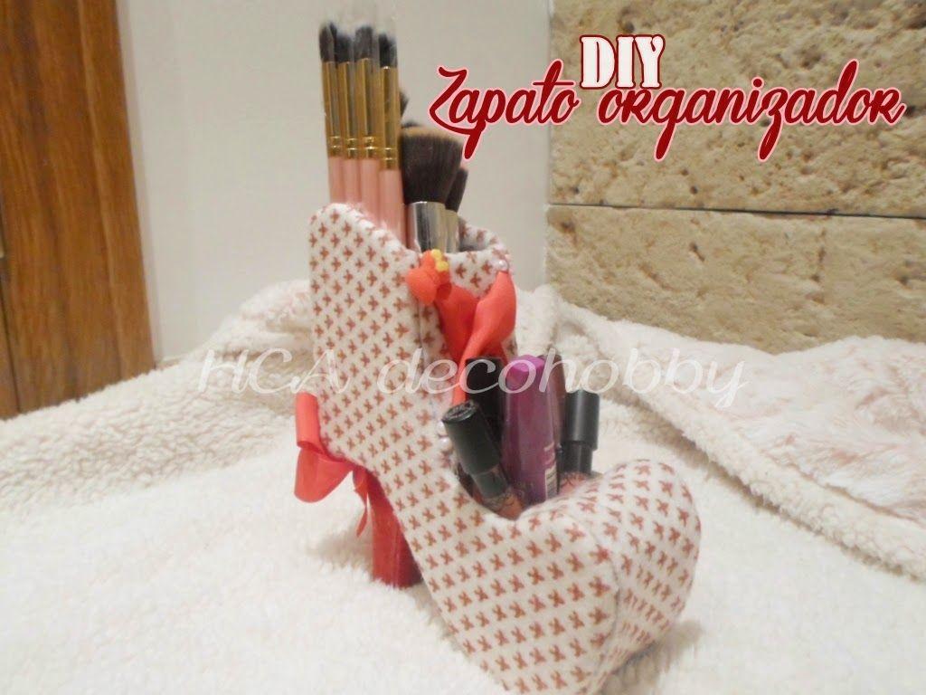 Diy reciclaje zapato organizador de brochas diy y manualidades y bricolaje - Manualidades y bricolaje ...