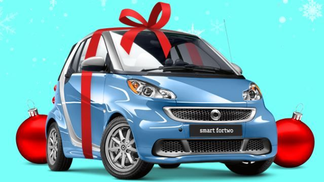 Smart Smartcar Fortwo Christmas New Smart Car Mini Coupe