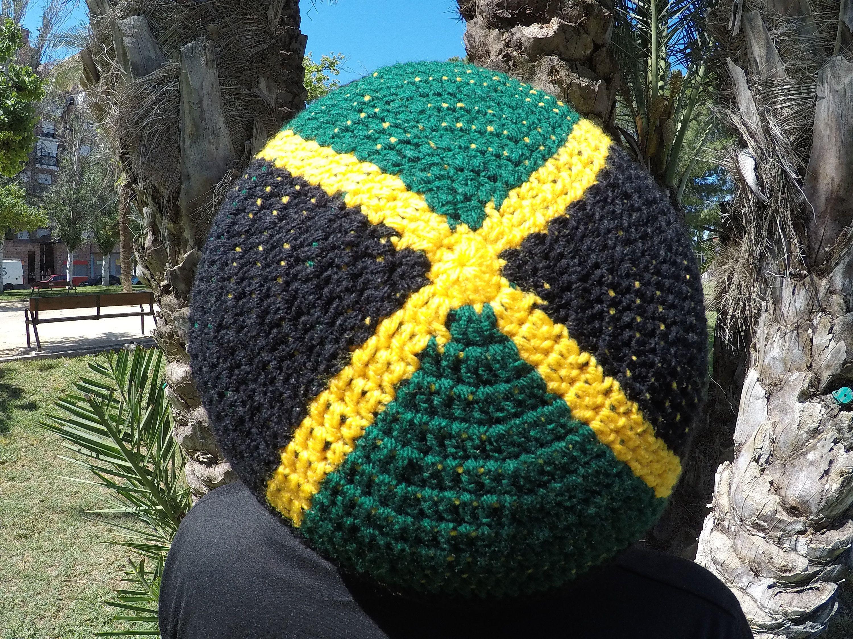 L JAMAICA Rasta Tam Hat Slouchy Beanie Beret Graphics ... Respect Hat Marley