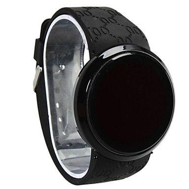 e645e41a6b8e Hombre Reloj de Pulsera Digital LED   Pantalla Táctil   Resistente al Agua  Silicona Banda Negro