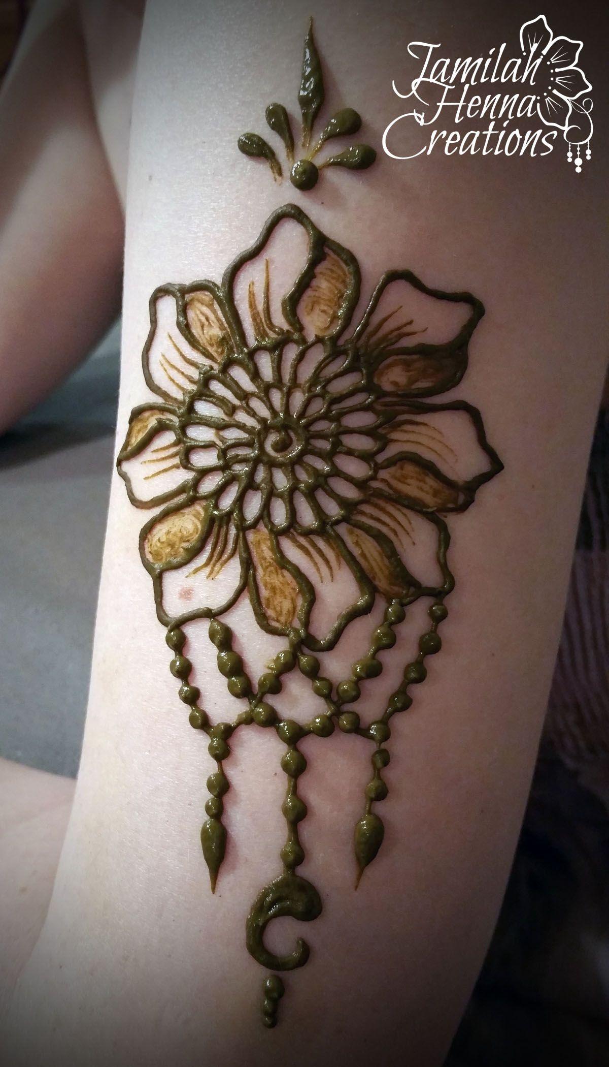 Upper Arm Henna Flower Www Jamilahhennacreations Com Henna