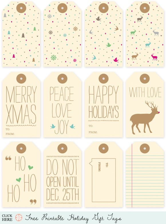Home creature comforts daily inspiration style diy projects holiday roundup awesome free gift tag printables by creature comforts diy negle Choice Image