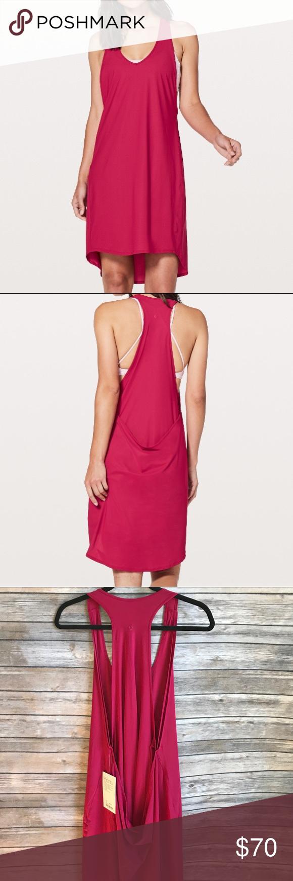 NWT lululemon rejuvenate dress ruby midi dress NWT