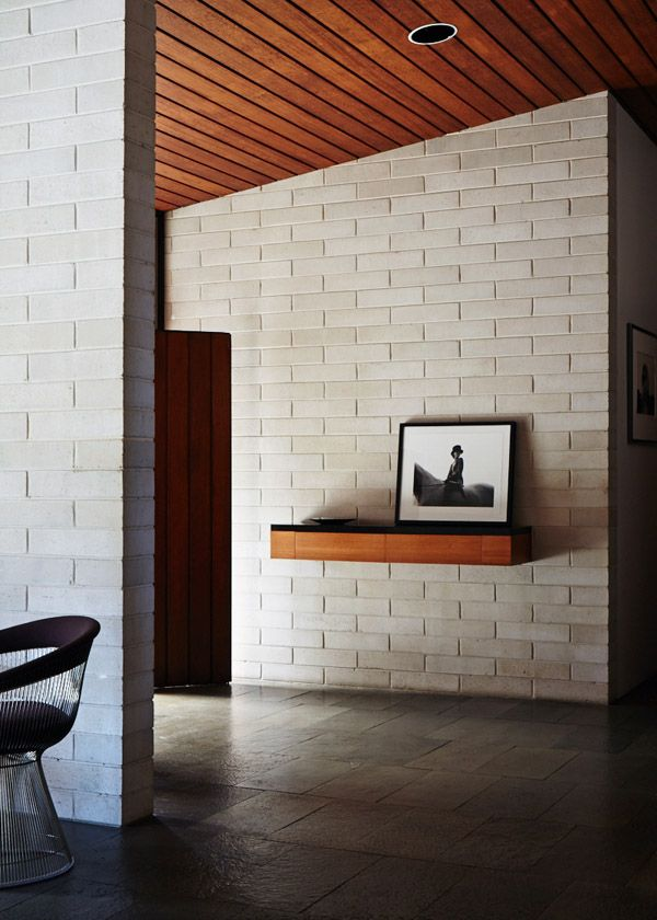 Episode Two Of Australians Have The Most Amazing Homes Loving The Mix Of Textures And The Insanely Enviable Brick Interior House Design Concrete Block Walls