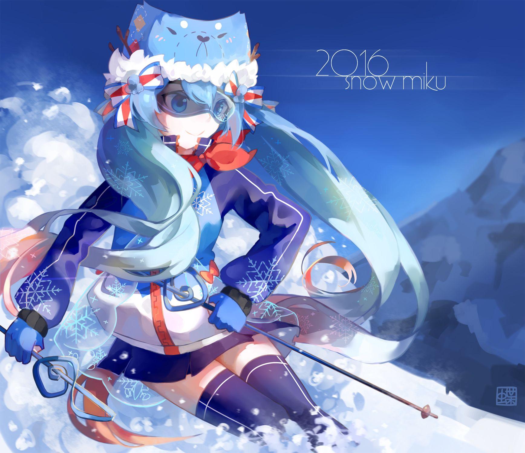Snow Miku 2016 Hatsune miku, Miku, Vocaloid