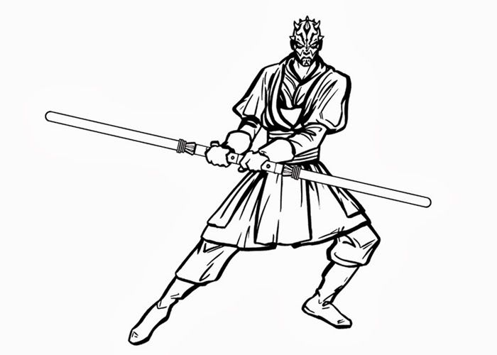 Star Wars Darth Maul Coloring Pages 01 Matej Pinterest Darth Maul