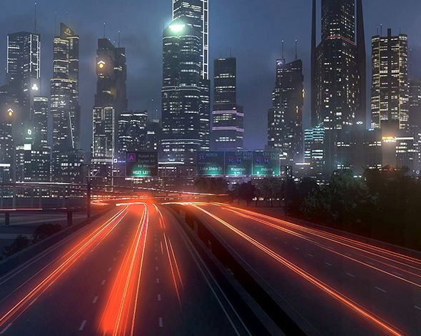 Freeway09 City+3DEFX  3D model and object for city modelling  #3D