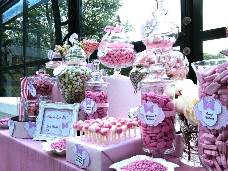 Tavolo Minnie ~ Candy buffet pink minnie mouse sandy wedding