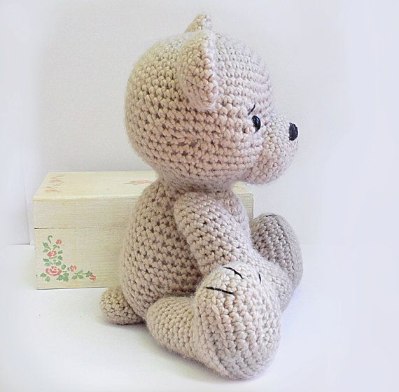 PATTERN : Bear-teddy -Amigurumi bear pattern-Bear -Classic Bear ...