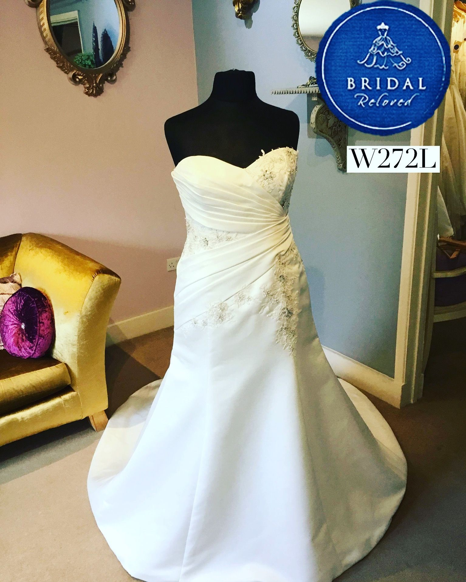 3dfe4760f1738 🌟New Dress🌟 This beautiful Aline dress by Romantica is one of our new  additions this week 💓 Call 01491 836699 or visit our Oxfordshire boutique  to make ...
