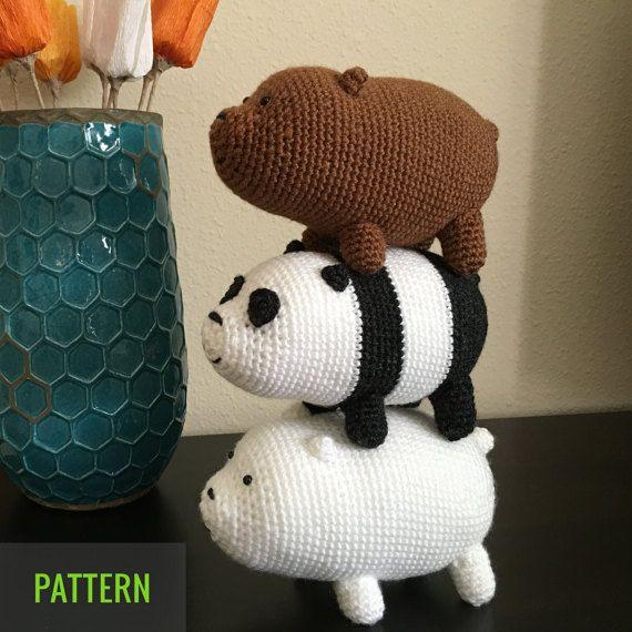 somos osos tejido a crochet    amigurumi (We Bare Bears) - YouTube   570x570