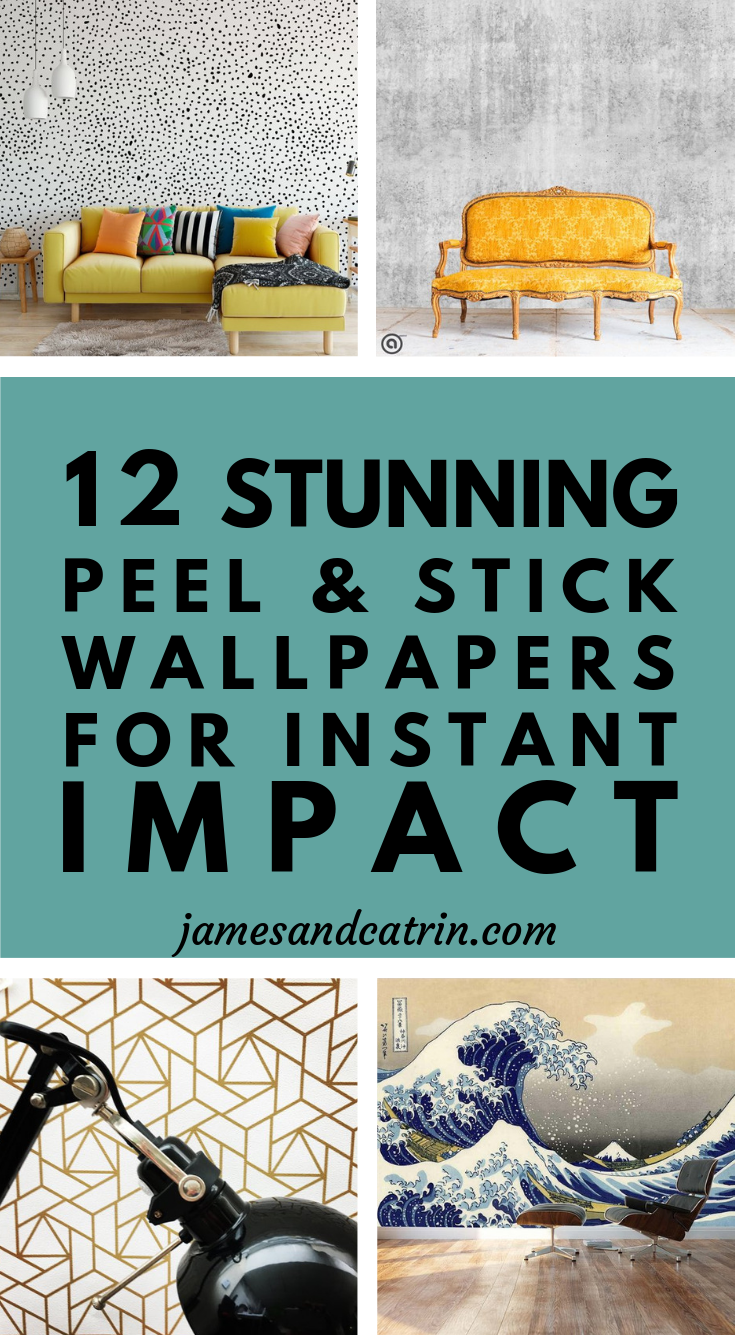 12 Stunning Peel & Stick Wallpapers for Easy Instant