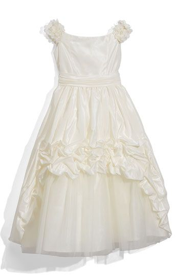 Oh i want a flower girl! who has a kid to lend, lol?  Taffeta Dress (Little Girls & Big Girls)   #Nordstrom #Weddings #Nordstromweddings