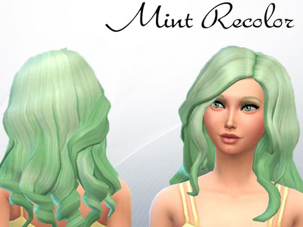 The Sims Resource: Curly Mint recolore by KA-Sims • Sims 4