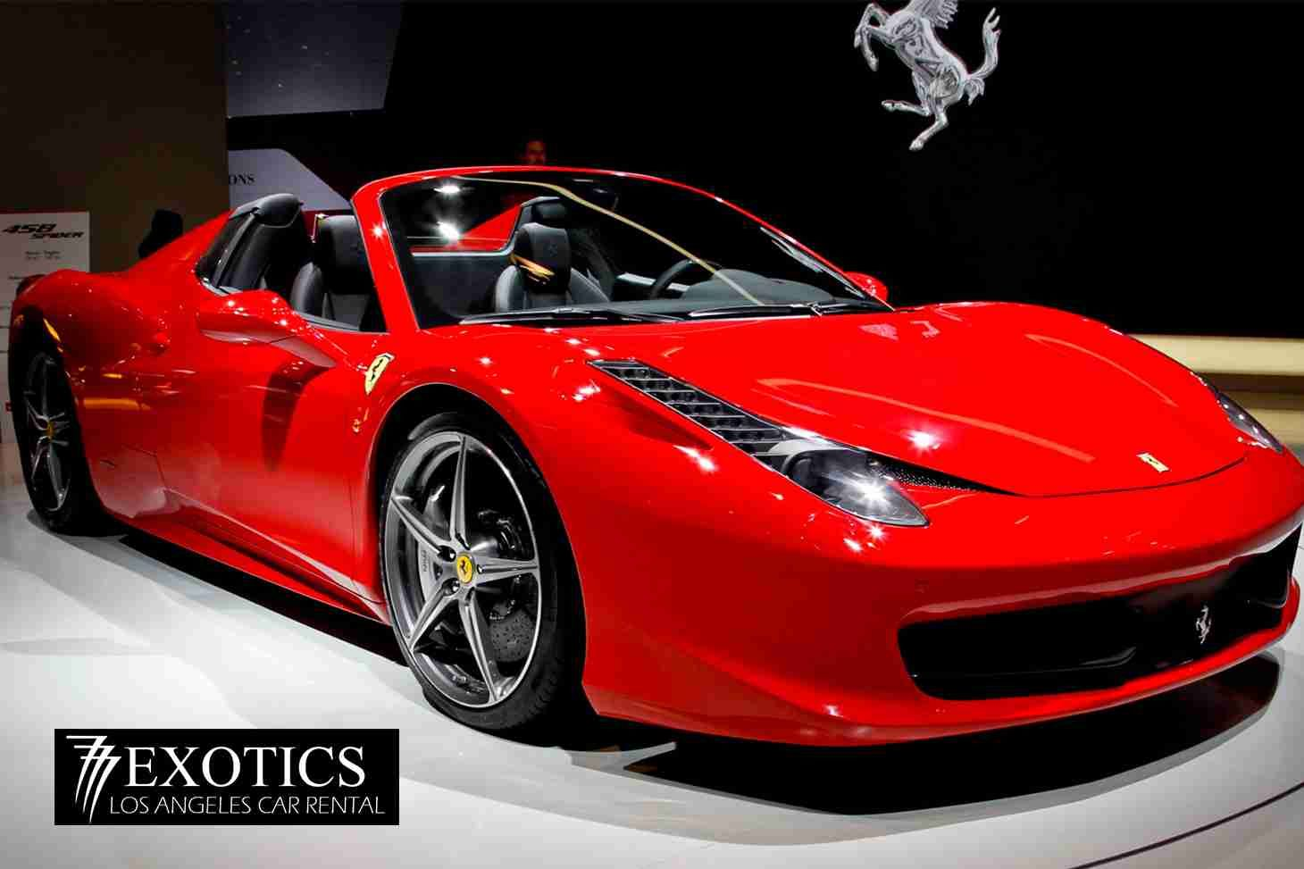 Ferrari 458 Italia Spider Rentals Los Angeles Cheap Price