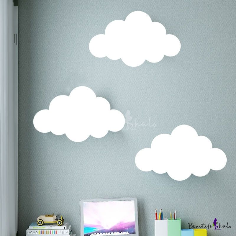 White Cloud Shade Led Light Wall Washer For Kids Bedroom Study