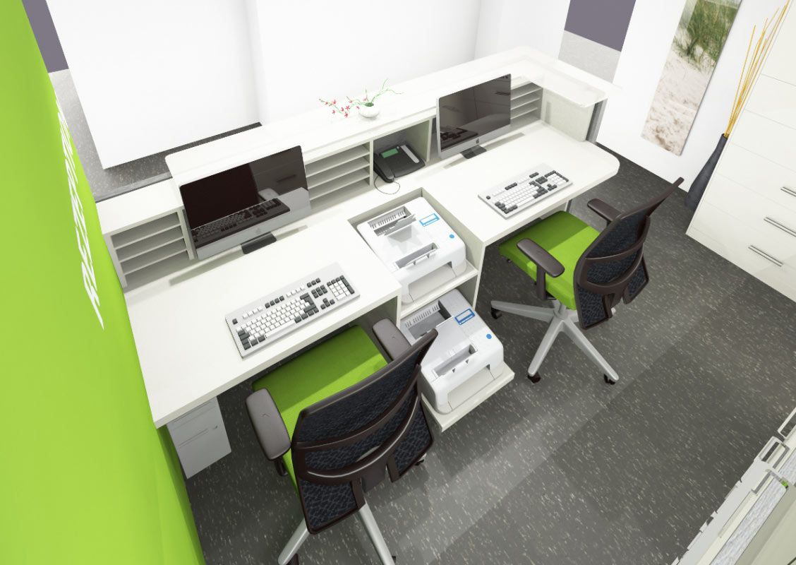 Individuelle Einrichtungslösungen für Büro, Objekt, Praxis und Ihr Zuhause  - Rezeption