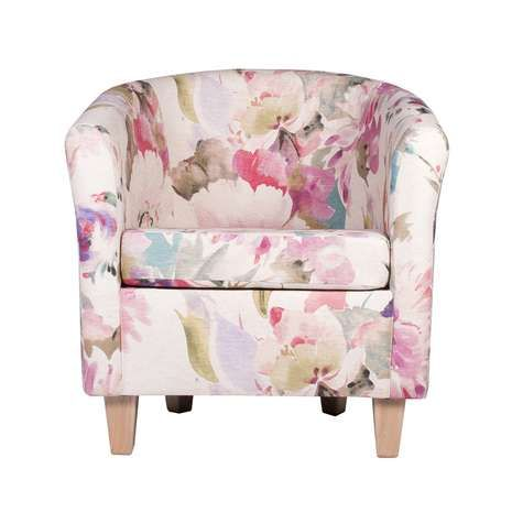 featuring a watercolour floral print in pinks and greens this easy