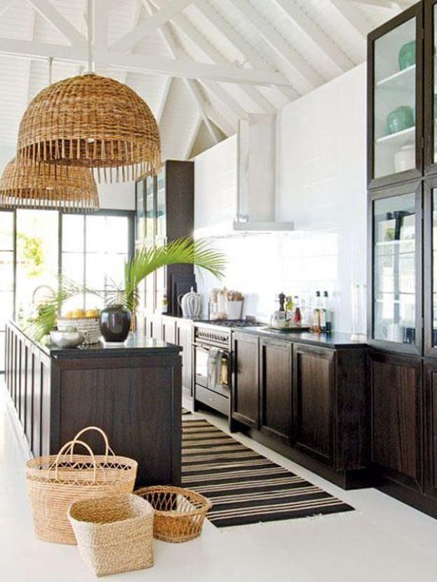 15 Fresh Natural Kitchen With Tropical Plants Coastal Kitchen