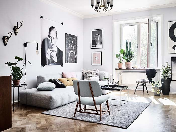Wohnzimmer Stilmix Skandinavisch Landhaus Stilvoll Wohnen