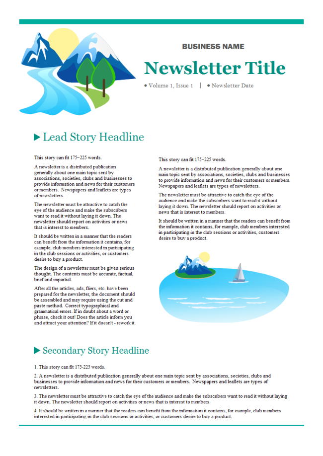 A Free Customizable Company Newsletter Template Is Provided To Download And Print Quickly Get A He Company Newsletter Newsletter Templates Newsletter Software